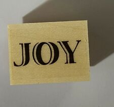 Wood Backed Rubber Stamp Hero Arts Merry Christmas Joy