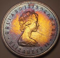 1978 CANADA 1 ONE DOLLAR SILVER PROOF GEM BU MONSTER TONED COLOR UNC (DR)