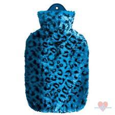 Wärmflasche mit Schneeleopard-Bezug, Wärm Flasche, Wärmekissen, Wärmeflasche