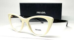 PRADA VPR 05X 7S3-1O1 Ivory Demo Lens Women's Eyeglasses 53 mm