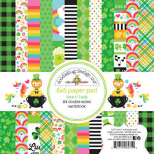 "New Doodlebug 6"" x 6"" Paper Pad Lots O' Luck"