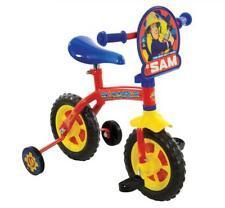 """Fireman Sam Kids 2 in 1 Convertible Training Balance Bike 10"""" Wheel Stabilisers"""