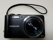 Wow! Samsung Hz30W 12Mp 15xZ Digital Camera Blk Battery Usb Charge Cable Clean!