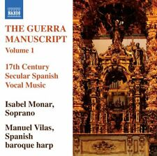 Isabel Monar - Guerra Manuscript, Vol. 1: 17th Century Secular Spanish Vocal ...
