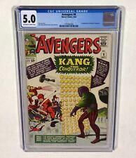 Avengers #8 CGC 5.0 KEY! (1st Kang the Conqueror!) 1964 Marvel Comics