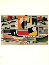 "1976 Vintage FERNAND LEGER ""THE BIG BARGE"" FABULOUS COLOR offset Lithograph"