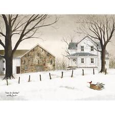 Billy Jacobs Home for Christmas Farm Cardinal  Art Print 16 x 12