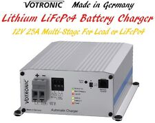 Votronic 12V Lithium LiFePo4 Lead Dual Battery Smart Charger 25A