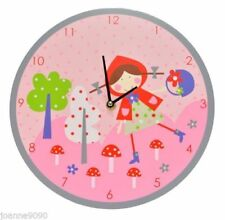 Relojes de pared redonda de color principal rosa