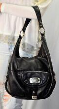 MICHAEL KORS Fulton Large Leather Hobo Shoulder Bag Black