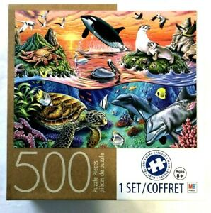 OCEAN GATHERING 500 Piece Jigsaw Puzzle by Mark Gregory Milton Bradley COMPLETE