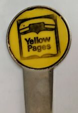 RARE Old Vintage Yellow Pages Telephone Advertising Letter Opener VGC JL