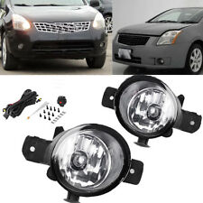 for Nissan Infiniti Clear Lens Bumper Fog Lights Driving Lamps w/Wiring & Switch