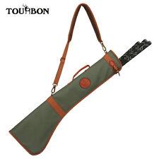 Tourbon Foldable Zipper Golf Sunday Bag Canvas Leather Golf Range Bag Carrycase