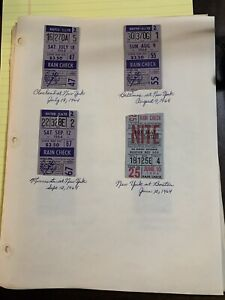 Lot 1964 NY Yankees Boston 25 Baltimore 55 Cleveland 47 Minnesota 67 Rain Check