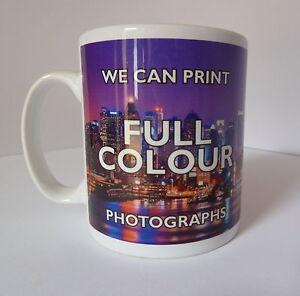 Personalised Custom Printed Gift White Tea Coffee Mug Your Image Photo Text/logo