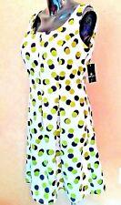 RONNI NICOLE Dress Womens 10 Fit Flare Polka Dot Stretch Zip Career Party Mod M