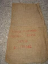 Vintage Produce Of Denmark Orchard Grass Baltimore burlap sack