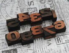 0-9 Zahlen 27 mm Plakatlettern letterpress Lettern Ziffern Stempel Typografie..