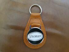 Vintage Wolseley Car Enamel Key ring Fob (od)