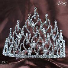 Impressive Tiara Hair Combs Rhinestone Crystal Crown Bridal Prom Party Headpiece