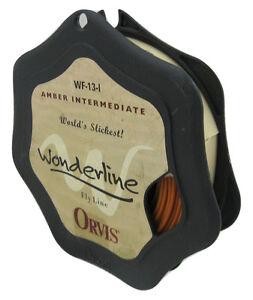NEW! Orvis Amber Intermediate Wonderline Flyline WF 13 I (WF13I) (WF-13-I)