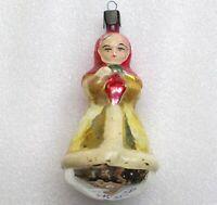 Antiker Russen Christbaumschmuck Glas Weihnachtsschmuck Ornament Mädchen