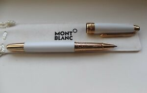 Montblanc Meisterstuck Ballpoint Pen - White with Gold Trim
