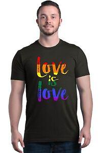 Love is Love T-shirt Gay Pride Rainbow Equal Rights LGBT Shirts