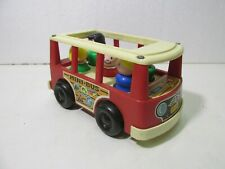 Vintage Fisher Price Little People Camping Mini Bus Playset & Figures #141 t5450