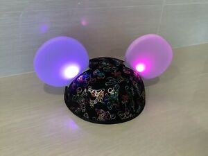 """Disney Parks World of Color """"Glow With The Show"""" Mickey Mouse Light Up Ears Hat"""