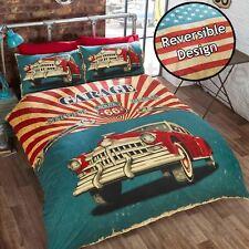 Garage Rétro Vintage Voitures Motif Drapeau Américain