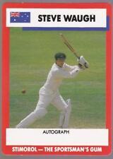 1990 Stimorol Cricket Card -  Steve Waugh