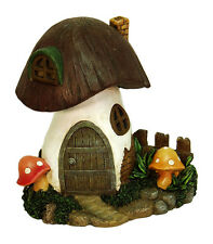 "8"" Solar Toadstool Fairy Gnome Home House Mushroom Terrarium Miniature Dollhouse"