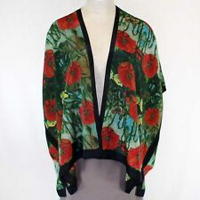 NEW Cocoon House Van Gogh Olive Orchard Silk Kimono Blouse Large XL fits 1X 2X