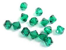 25 Swarovski Crystal Beads # 5328 Emerald 6MM
