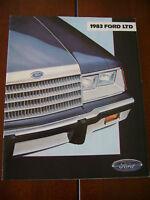 1983 FORD LTD DEALER SALES BROCHURE