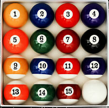 Art Number Style Pool Table Billiard Ball Set Reg Size and Weight