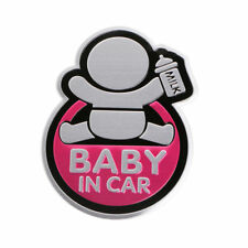 Car 3D Window Aluminum Sticker Baby IN CAR Warning Decal Safety Waterproof