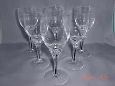 "6 EXQUISITE BLACK CORE STEM SHERRY GOBLET GLASSES BELFOR BOHEMIA 5 3/8"""