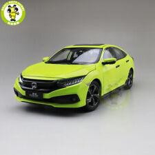 1/18 Honda CIVIC 2019 Diecast Metal Car Model Toys Boy Girl Gift Green