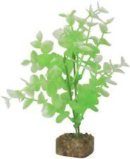 GloFish Plant Aquarium Decor Green & White Medium 7.5 inch Aqua weighted decor