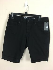 Mossio Mid Rise NWT Women's 8R Black Solid Flat Above Knee Cuffed Cotton Shorts