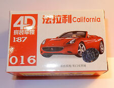 016 MICRO HO 1/87 MODEL 4D KIT MAQUETTE TRAIN FERRARI CALIFORNIA V8 2008 ROUGE