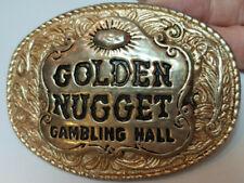 VINTAGE 1970s **GOLDEN NUGGET GAMBLING HALL** BELT BUCKLE