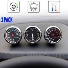 3in 1 Auto Uhr Auto Quarzuhr KFZ Auto Innen & Außen selbstklebendes Thermometer