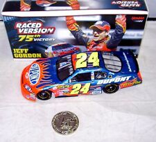 1:24 ACTION 2006 #24 DUPONT CHICAGOLAND RACED WIN JEFF GORDON #75 WITH COIN NIB