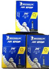 "3x Michelin Airstop Butyl 26"" 1.0-1.35 25-35x559 C2 40mm PRESTA Valve"