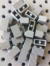 Lego Light Gray 1x2 Grill Profile Brick Wall Modular Buildings Castle 25pcs