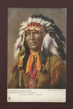 USA ethnic native INDIAN Hiawatha Tuck Oilette #1360 J Finnemore Used 1904 PPC